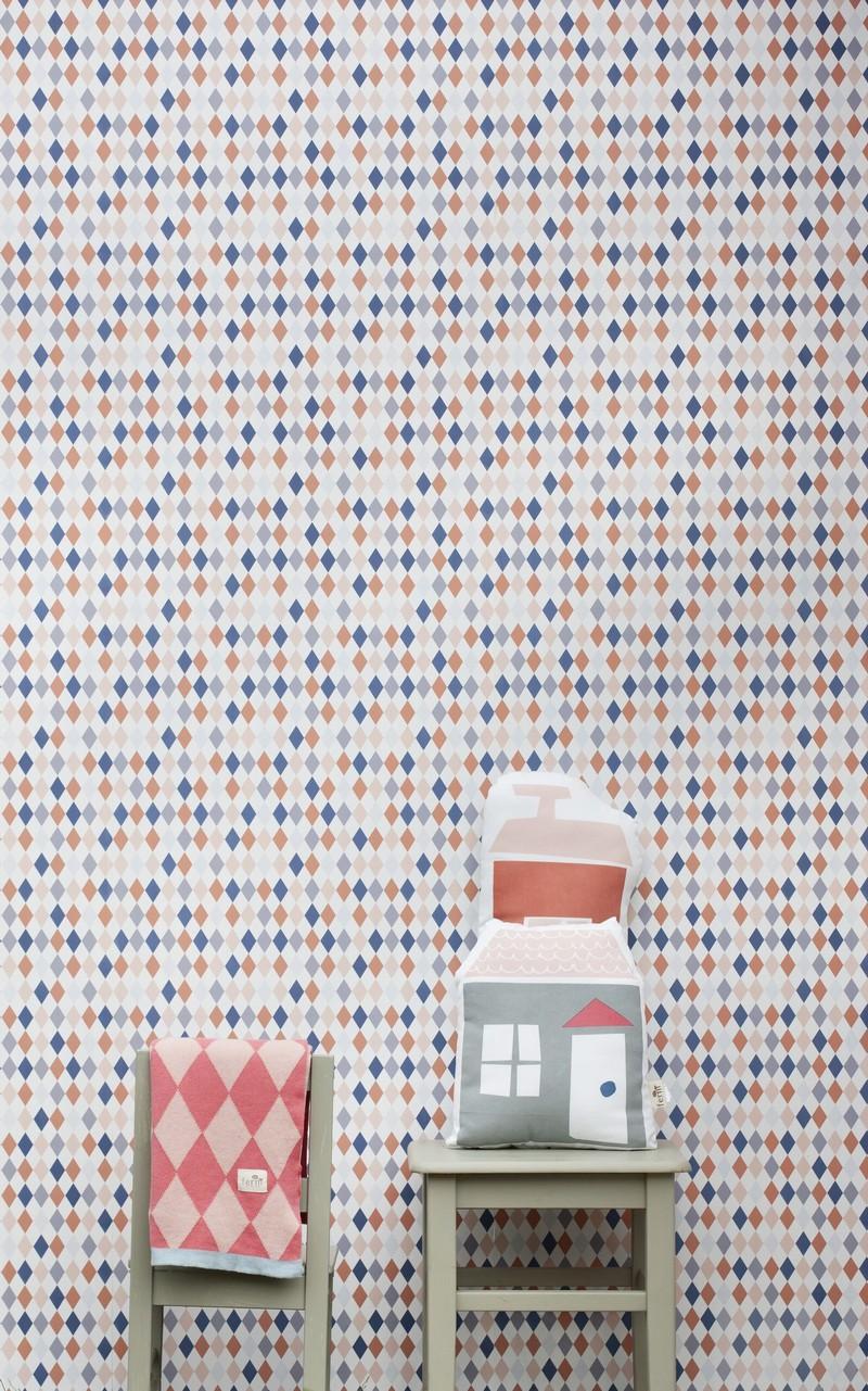 Ferm Living Tapete Harlequin : Geometryczne wnetrze Patio – Patrycja Golza
